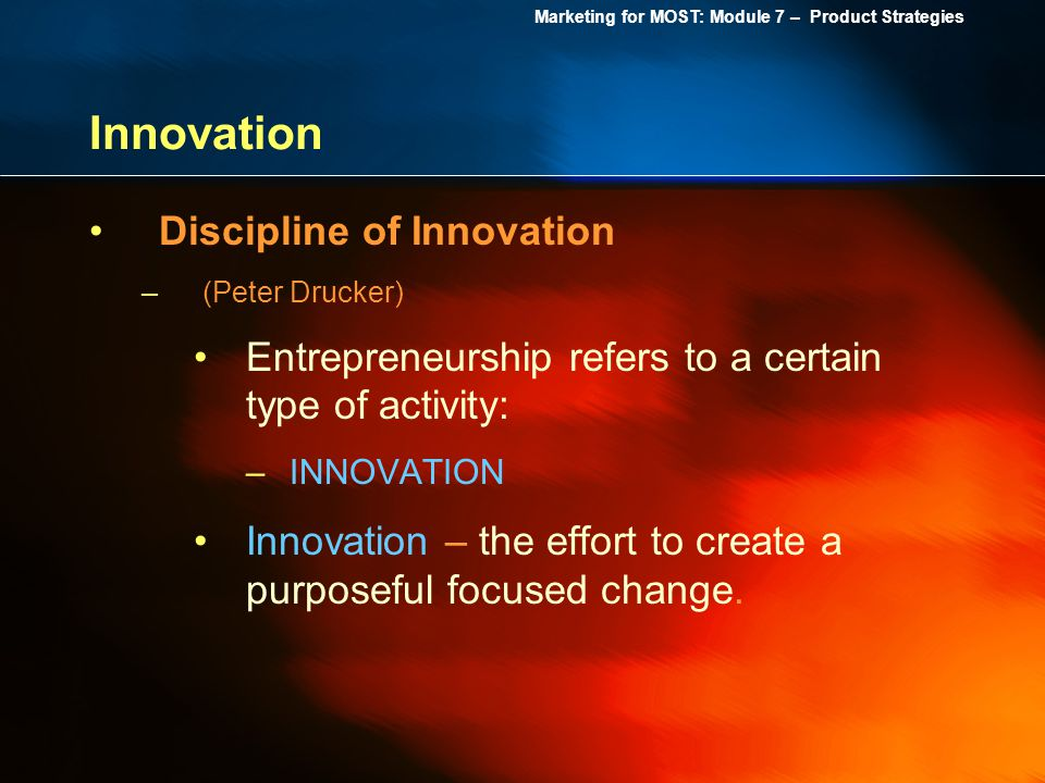 Innovation Discipline of Innovation
