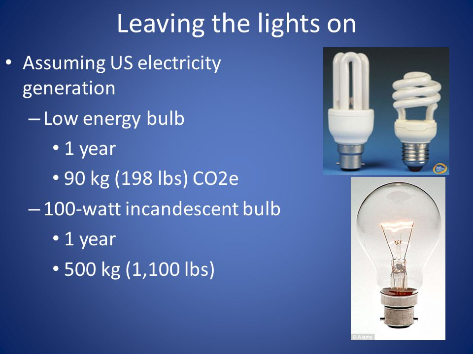 Leaving the lights on Assuming US electricity generation