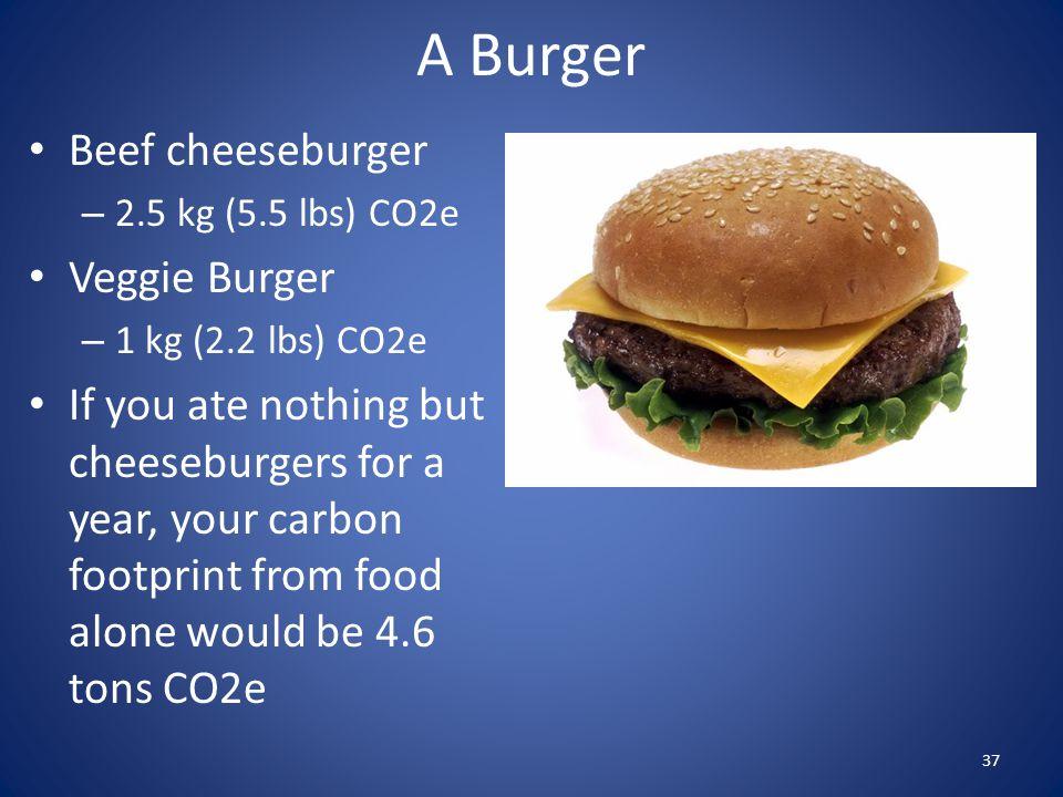 A Burger Beef cheeseburger Veggie Burger