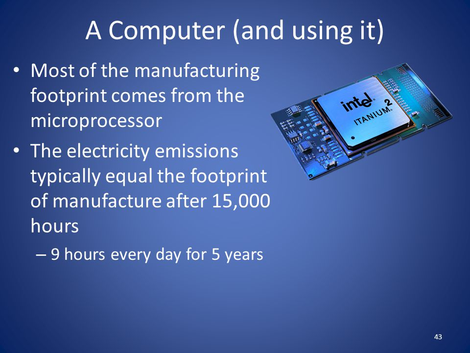 A Computer (and using it)