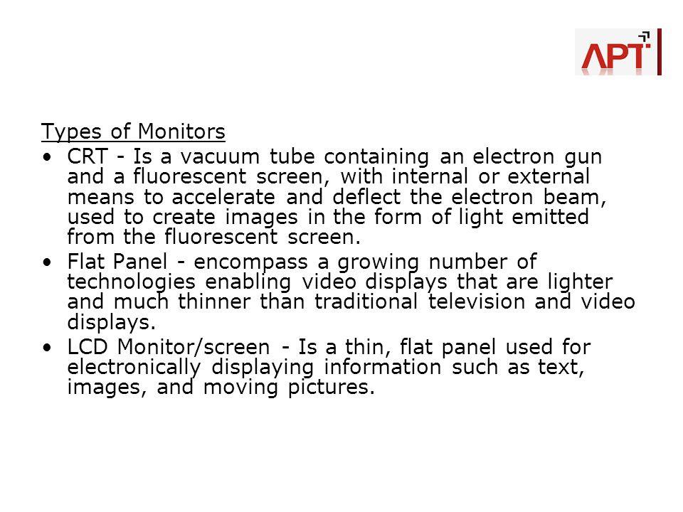 Types of Monitors