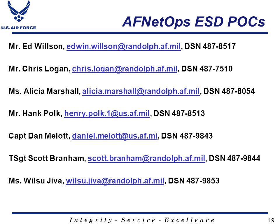 AFNetOps ESD POCs
