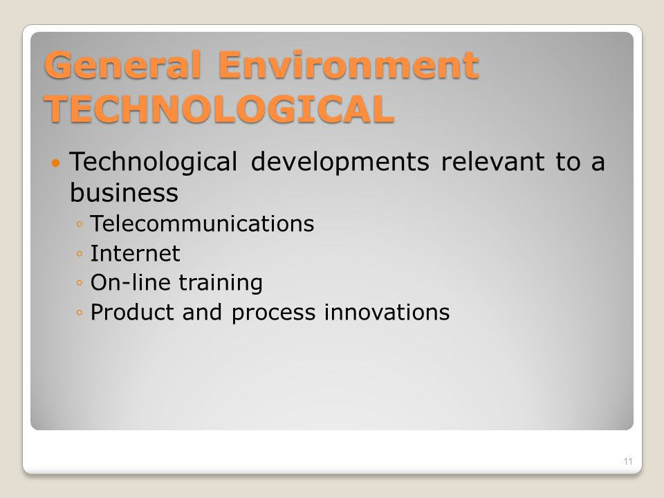 General Environment TECHNOLOGICAL