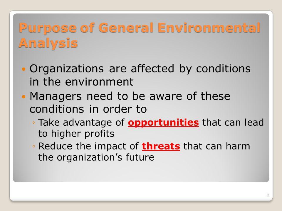 Purpose of General Environmental Analysis