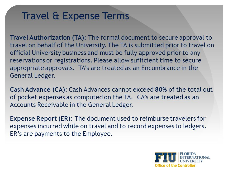 Travel & Expense Terms