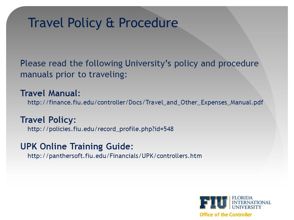 Travel Policy & Procedure