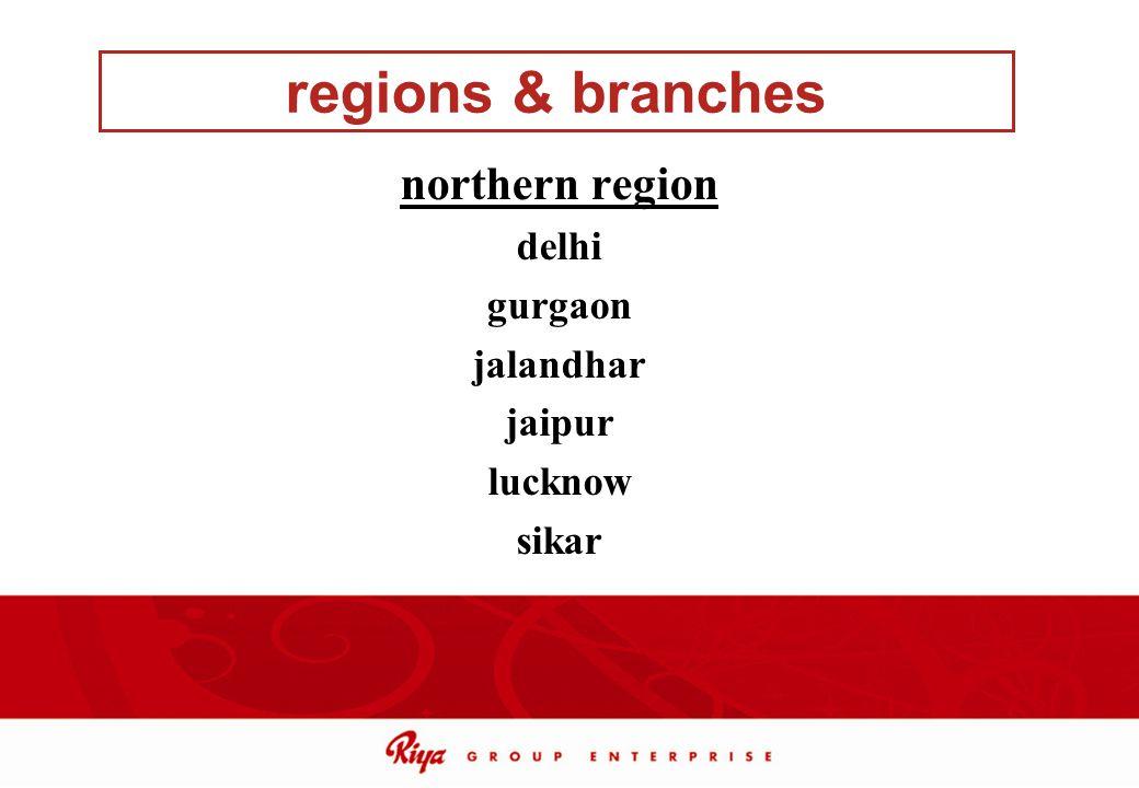 regions & branches northern region delhi gurgaon jalandhar jaipur