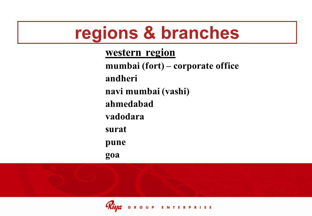regions & branches western region mumbai (fort) – corporate office