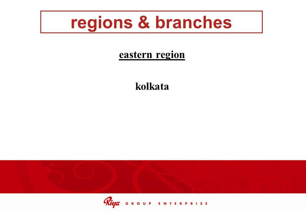 regions & branches eastern region kolkata