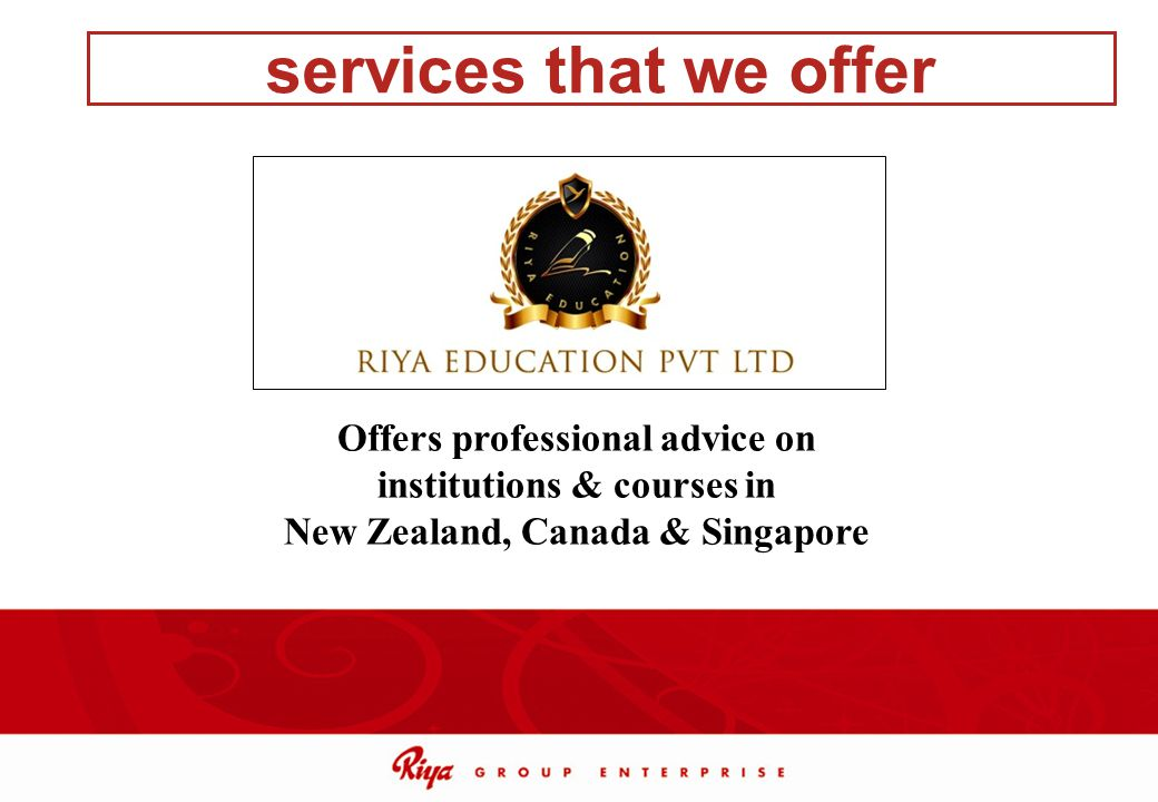 services that we offer Offers professional advice on