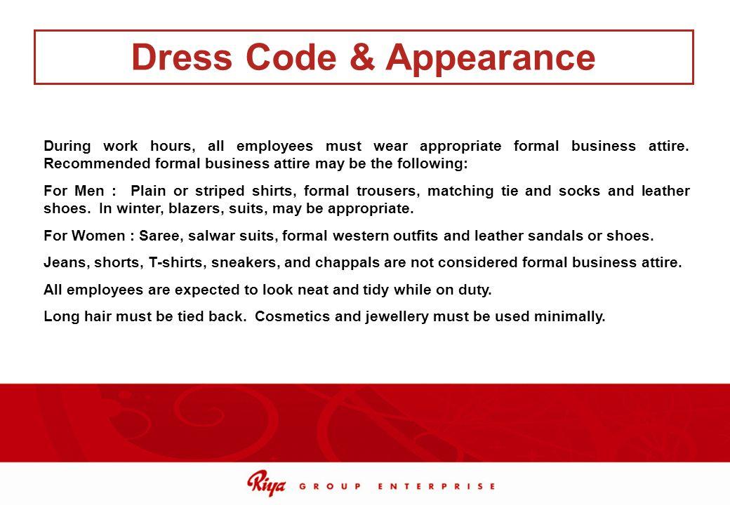 Dress Code & Appearance
