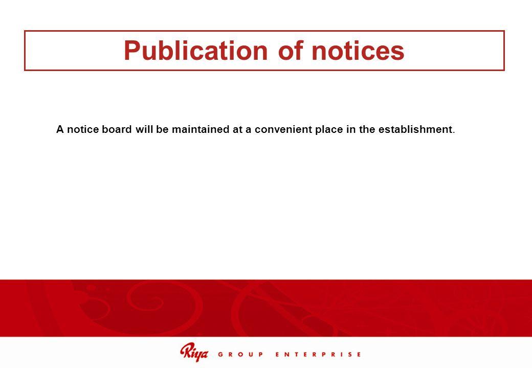 Publication of notices