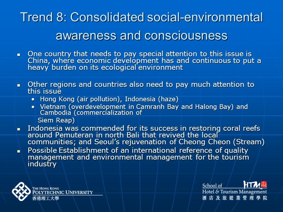 Trend 8: Consolidated social-environmental awareness and consciousness