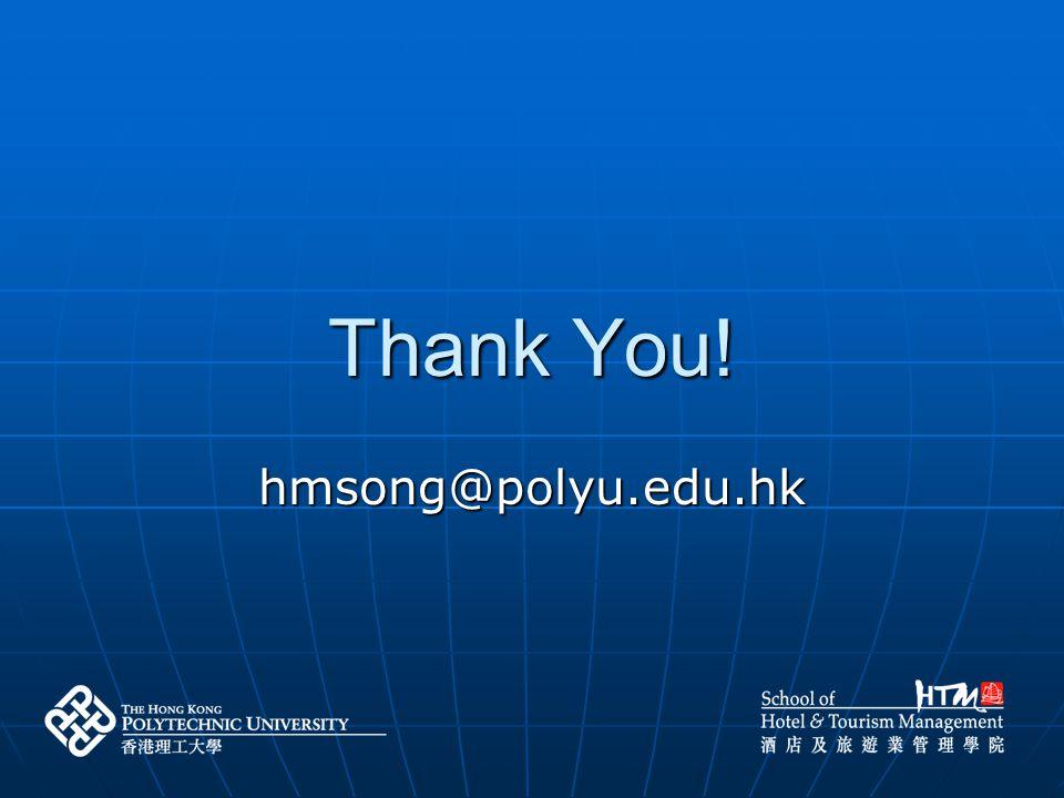 Thank You! hmsong@polyu.edu.hk