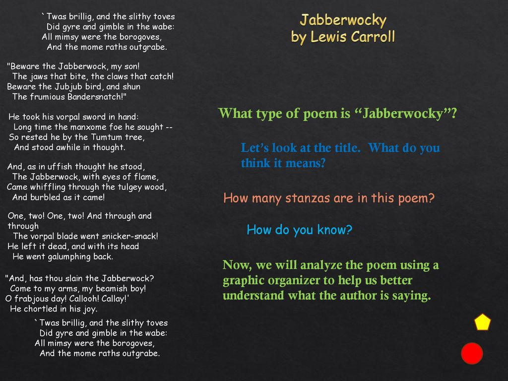 Jabberwocky Wednesday Thursday Ppt Download