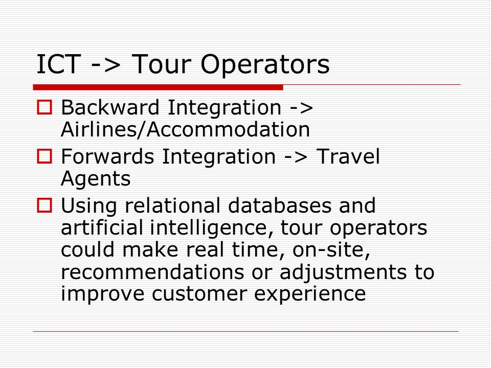 ICT -> Tour Operators