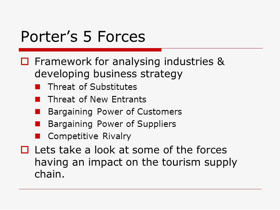 Porter's 5 Forces Framework for analysing industries & developing business strategy. Threat of Substitutes.
