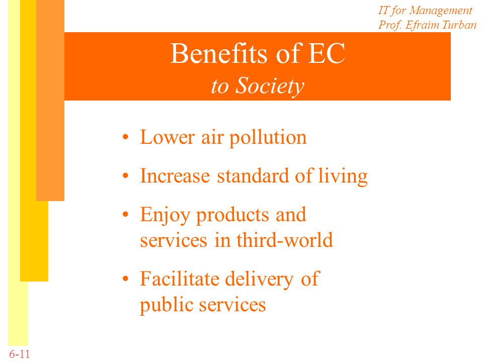 Benefits of EC to Society