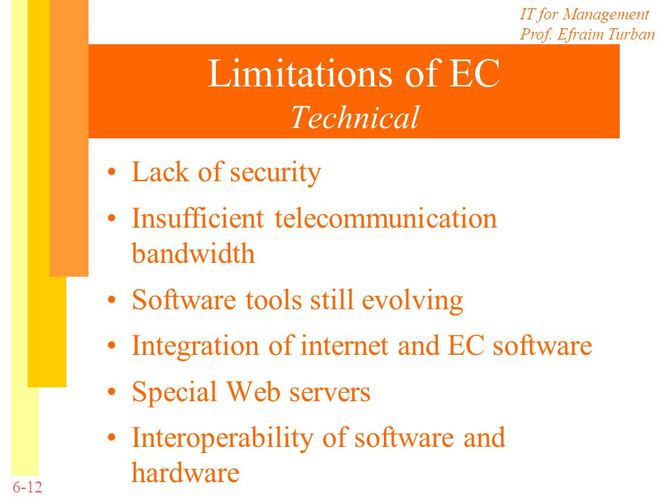 Limitations of EC Technical