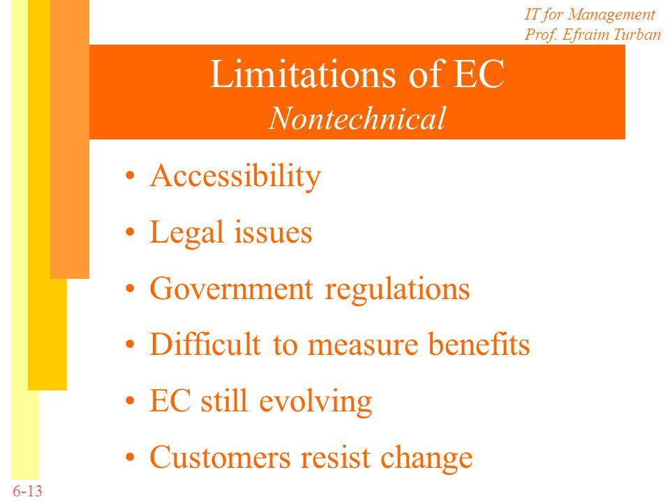 Limitations of EC Nontechnical
