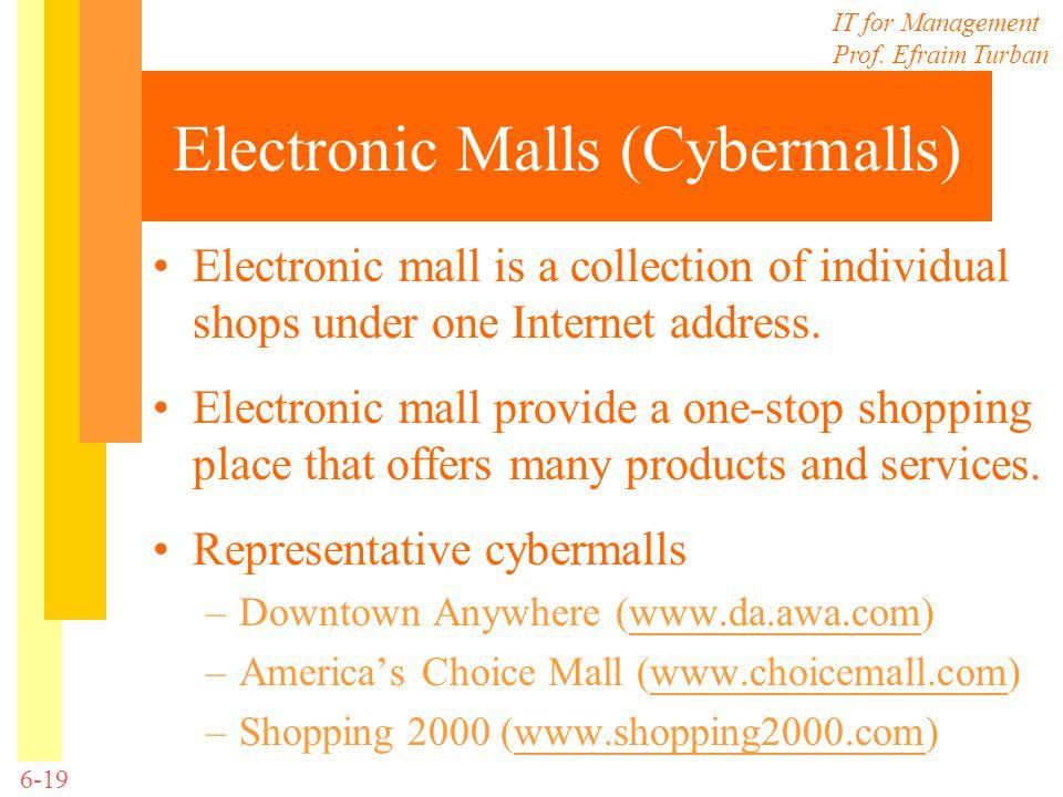Electronic Malls (Cybermalls)