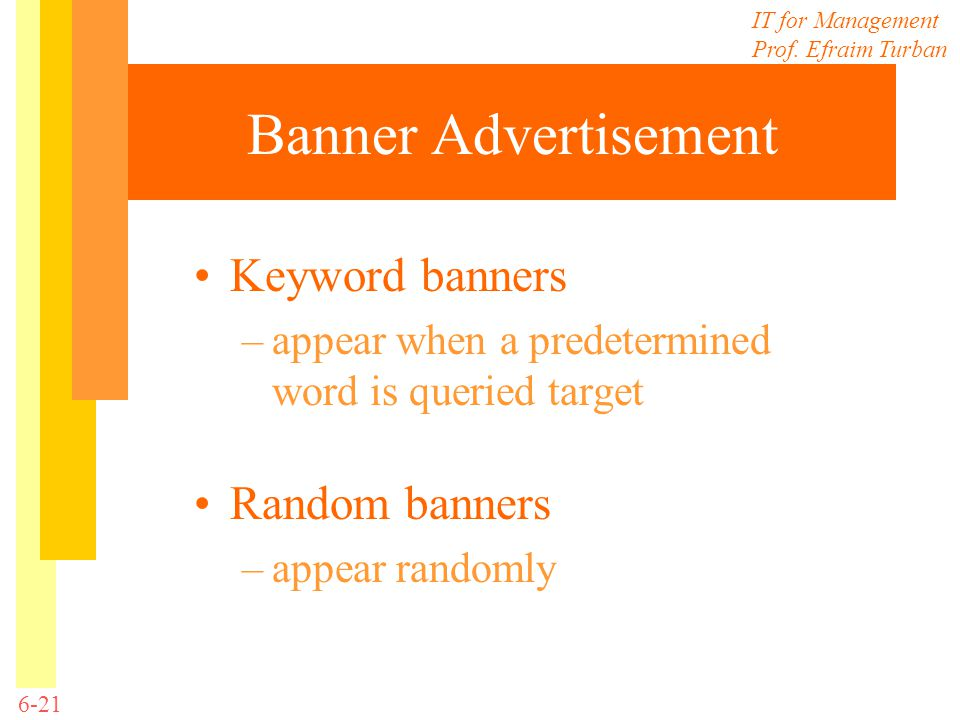 Banner Advertisement Keyword banners Random banners