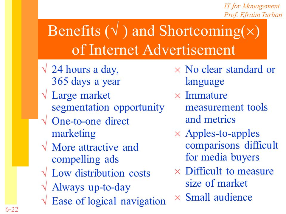 Benefits ( ) and Shortcoming() of Internet Advertisement