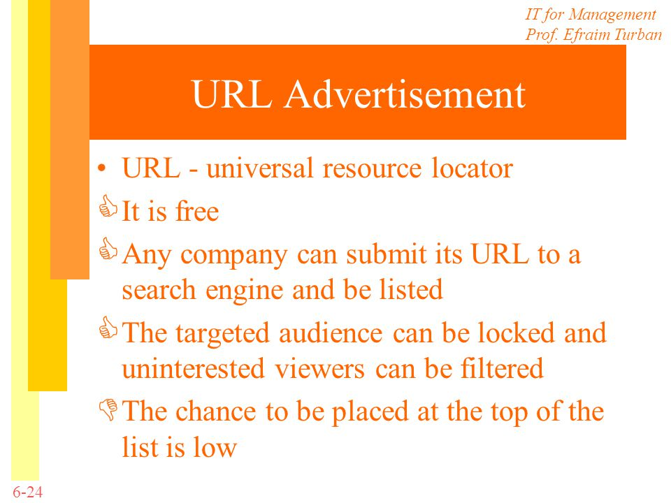 URL Advertisement URL - universal resource locator It is free
