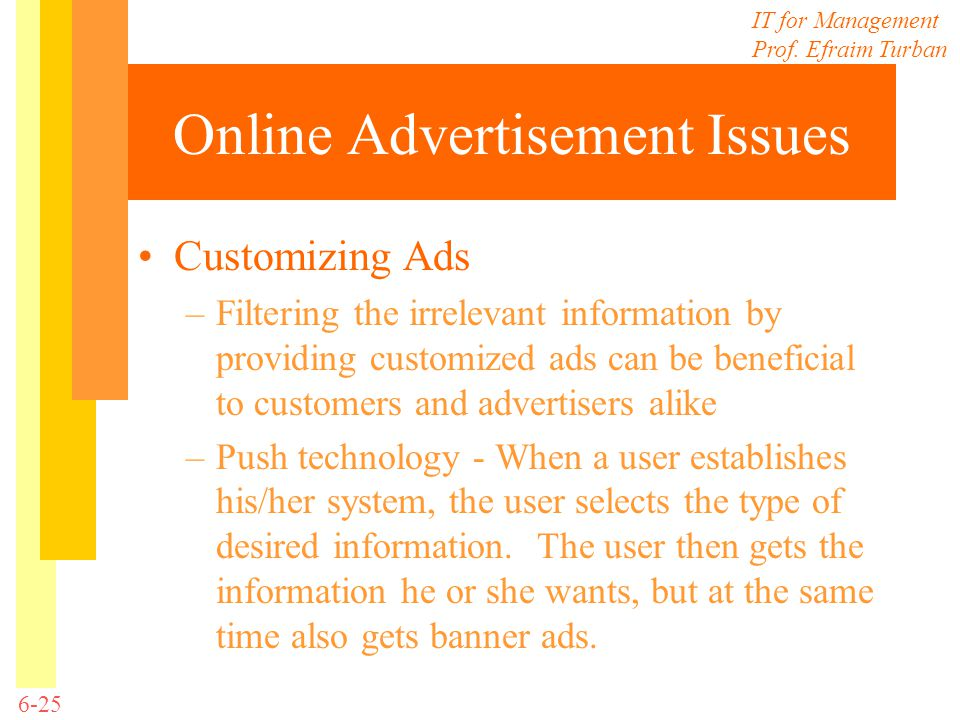 Online Advertisement Issues