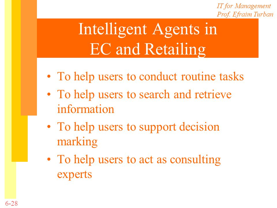 Intelligent Agents in EC and Retailing