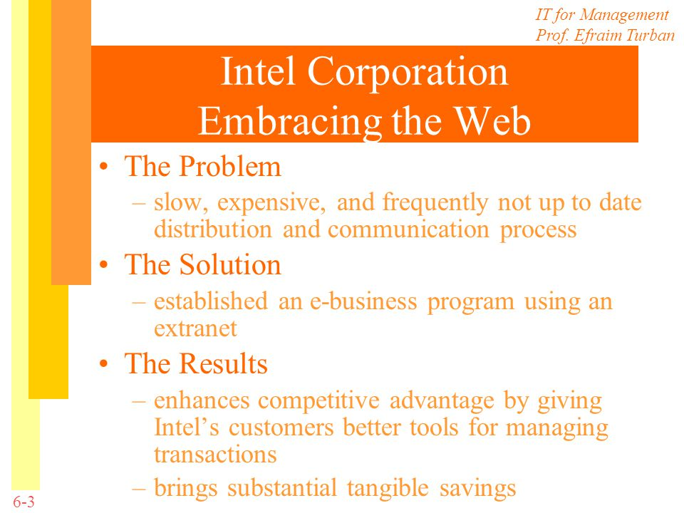 Intel Corporation Embracing the Web