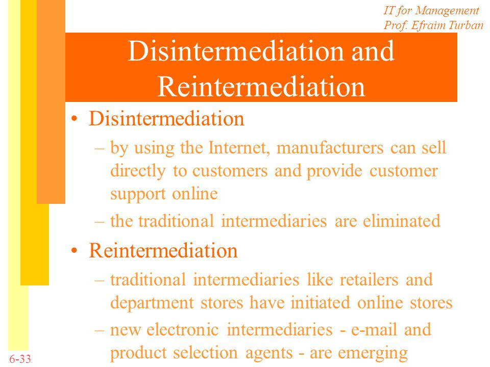 Disintermediation and Reintermediation