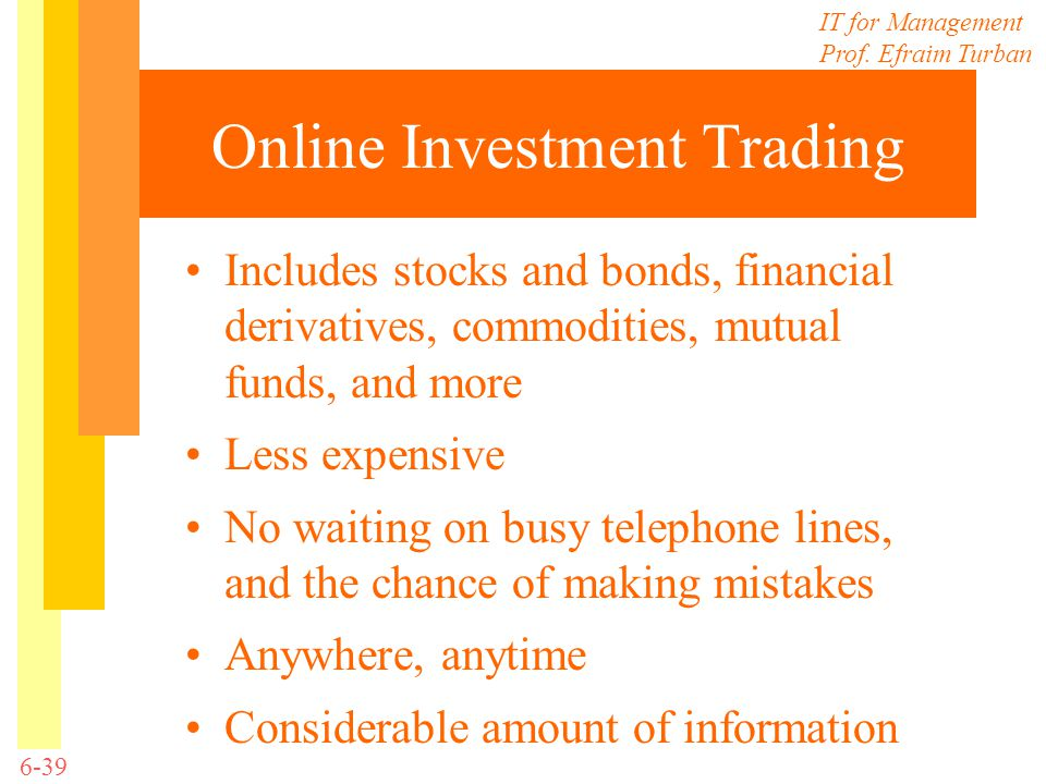 Online Investment Trading