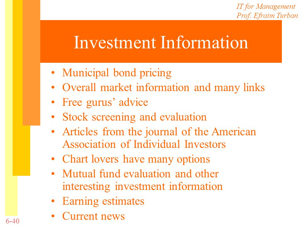 Investment Information