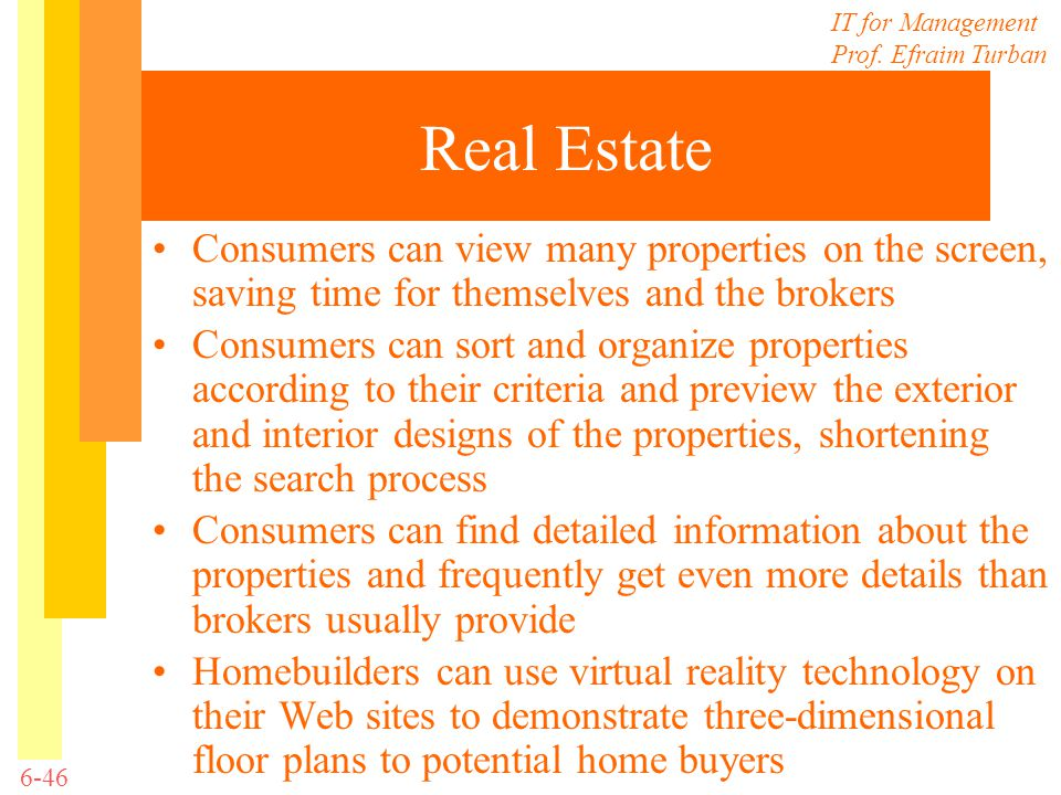 Real Estate Consumers can view many properties on the screen, saving time for themselves and the brokers.