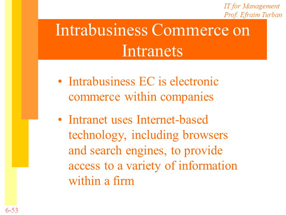 Intrabusiness Commerce on Intranets