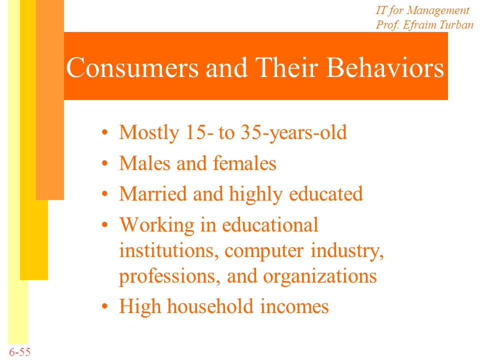 Consumers and Their Behaviors