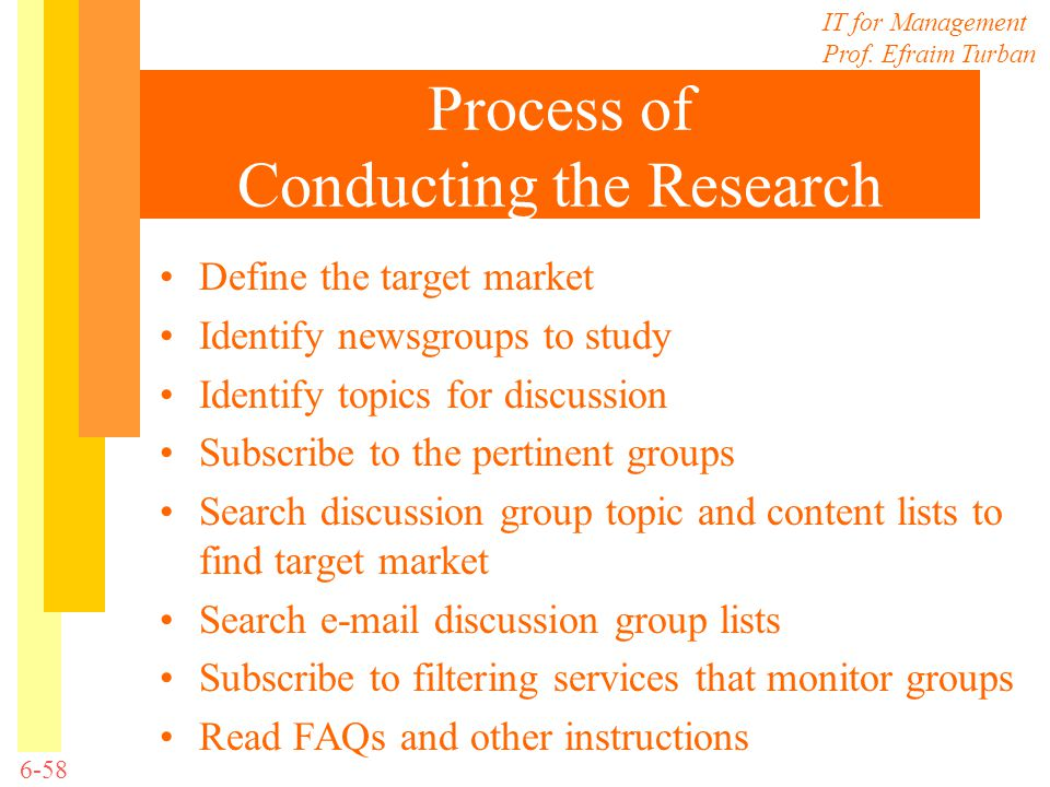 Process of Conducting the Research