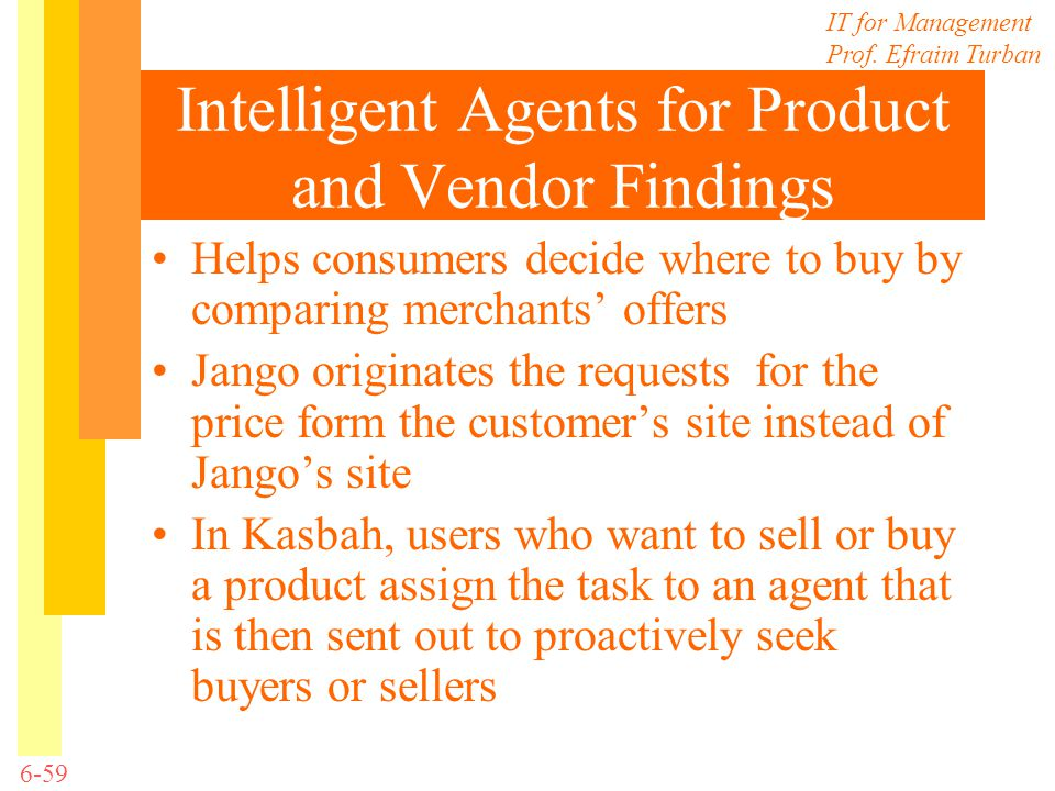 Intelligent Agents for Product and Vendor Findings