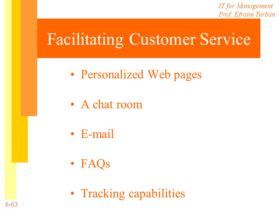 Facilitating Customer Service