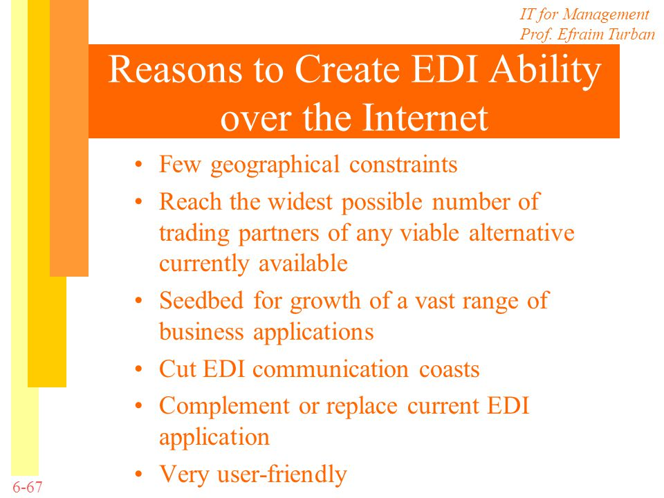 Reasons to Create EDI Ability over the Internet