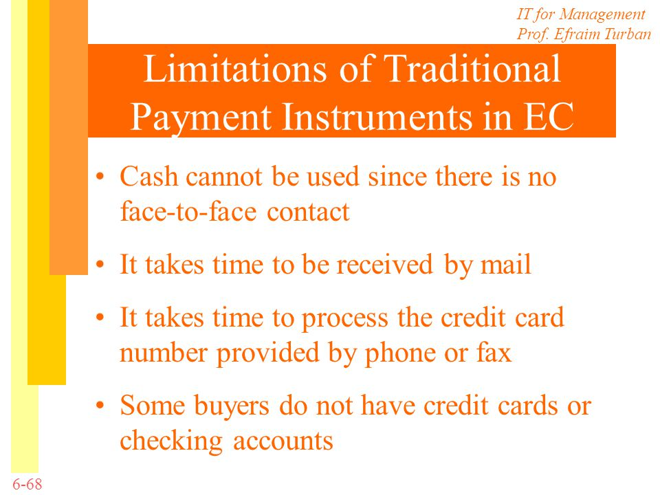 Limitations of Traditional Payment Instruments in EC