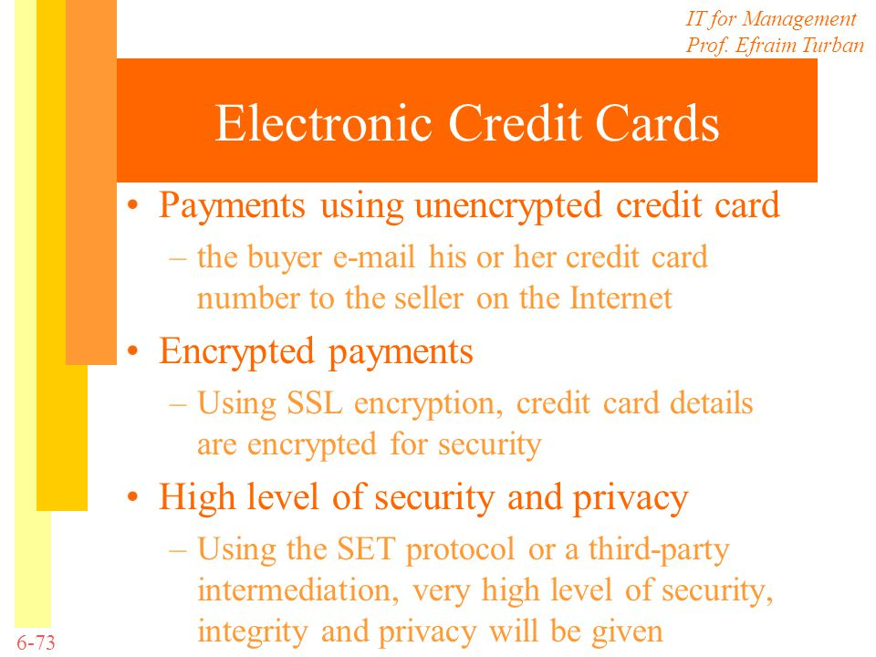 Electronic Credit Cards