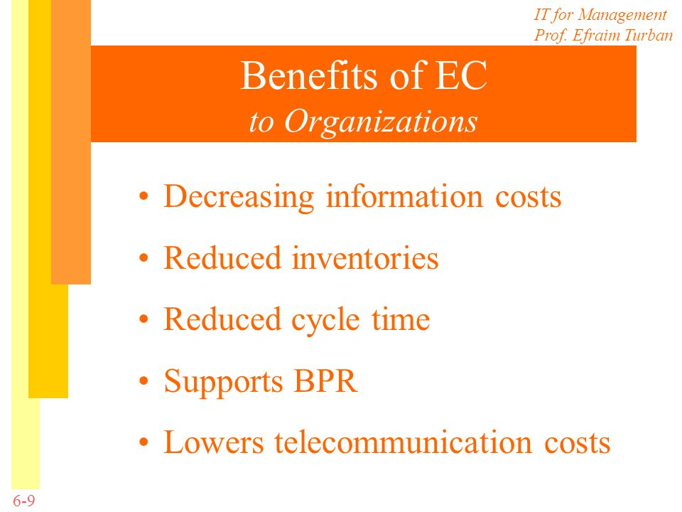 Benefits of EC to Organizations