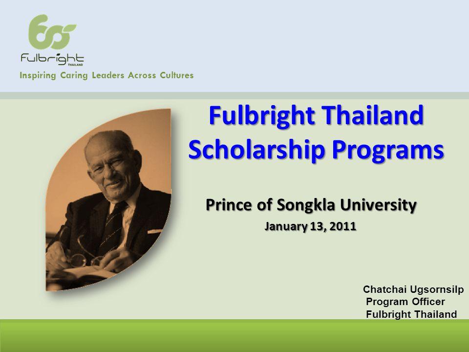 Fulbright Thailand Scholarship Programs