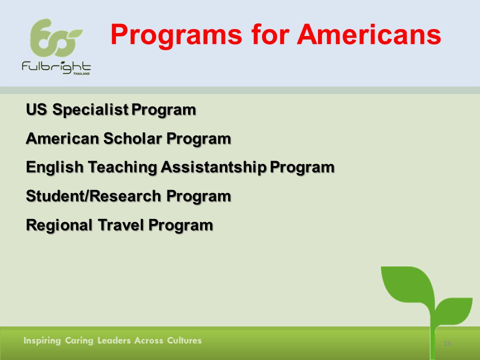 Programs for Americans