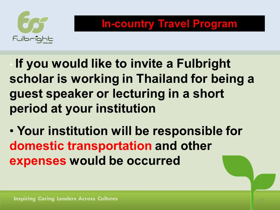 In-country Travel Program