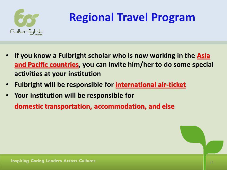 Regional Travel Program
