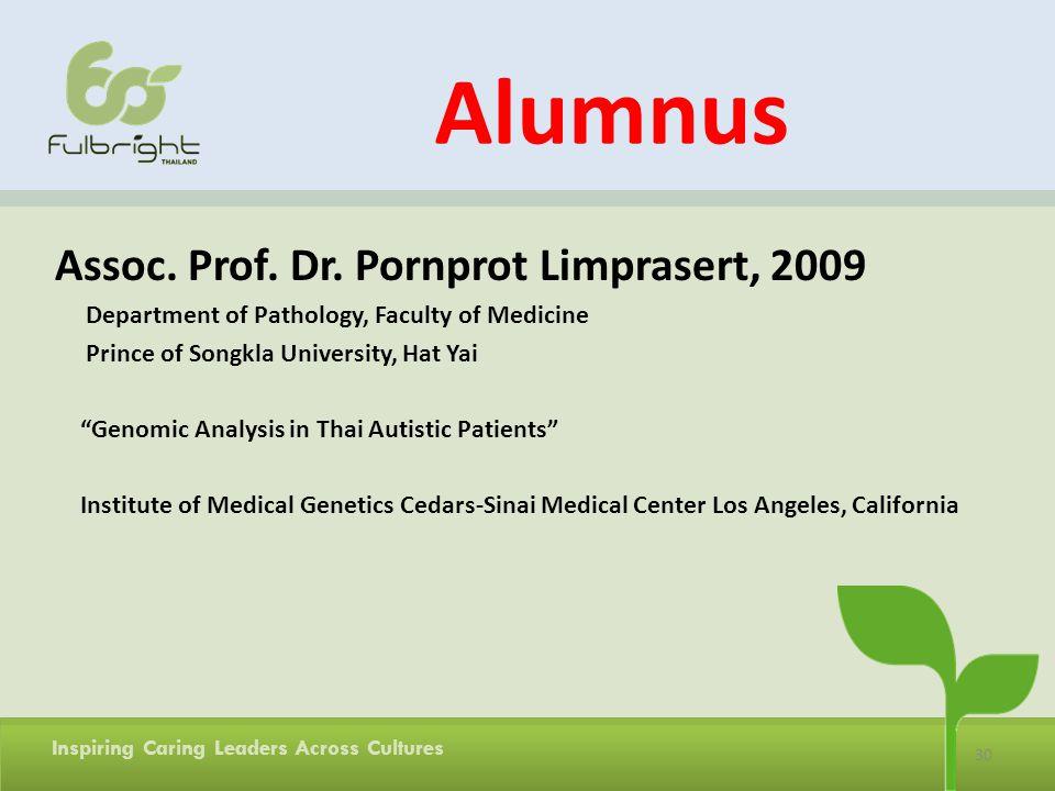 Alumnus Assoc. Prof. Dr. Pornprot Limprasert, 2009