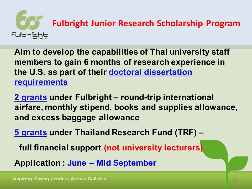 Fulbright Junior Research Scholarship Program